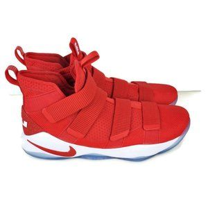 Nike LeBron Soldier XI White Red Basketball Shoe's